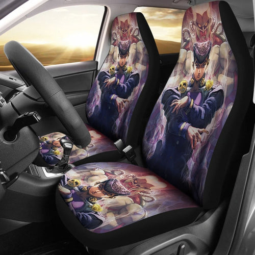 Josuke Art Car Seat Covers JoJo's Bizarre Adventure Universal Fit 210212 - CarInspirations