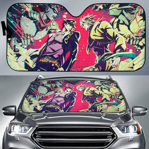 Jotaro And Dio Car Sun Shades JoJo's Bizarre Adventure Universal Fit 210212 - CarInspirations