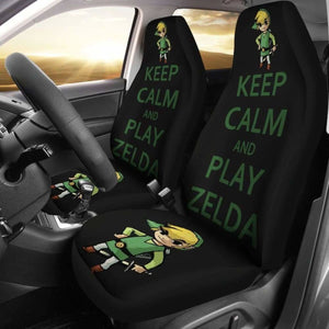 Keep Calm And Play Zelda Car Seat Covers Universal Fit 051012 - CarInspirations