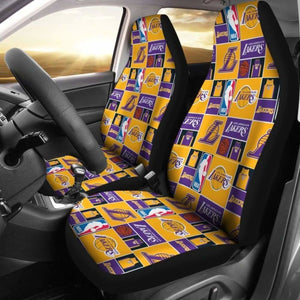 Lakers Art Patterns Car Seat Covers Universal Fit 051012 - CarInspirations
