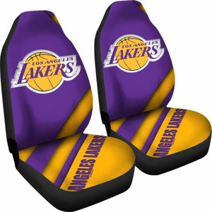 Lakers Logo Car Seat Covers Universal Fit 051012 - CarInspirations