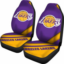 Load image into Gallery viewer, Lakers Logo Car Seat Covers Universal Fit 051012 - CarInspirations