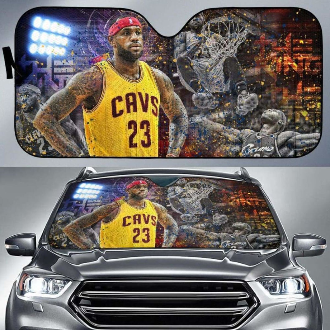 LeBron James Car Auto Sun Shade 211626 Universal Fit - CarInspirations