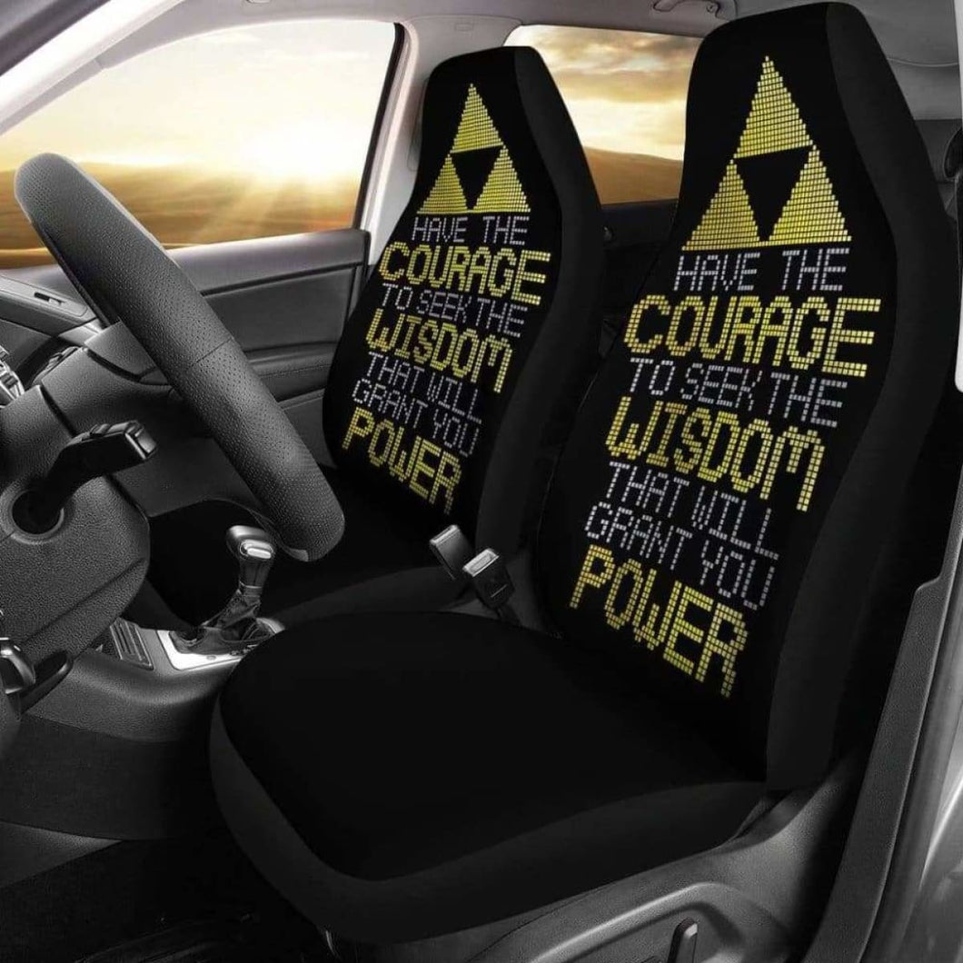 Legend Of Zelda Quote Car Seat Covers Universal Fit 051012 - CarInspirations