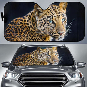 Leopard Car Car Auto Sun Shade 211626 Universal Fit - CarInspirations