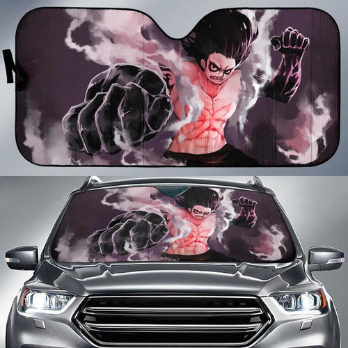 Luffy Gear 4 Snakeman One Piece Anime Auto Sun Shade Nh06 Universal Fit 111204 - CarInspirations