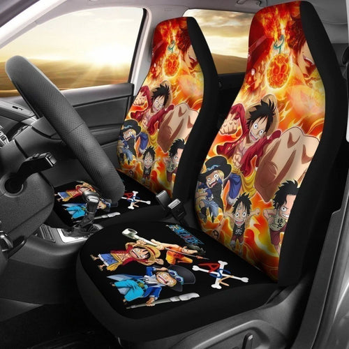Luffy Sabo Ace Pirates One Piece Anime Car Seat Covers Universal Fit 194801 - CarInspirations