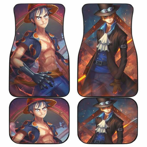 Luffy Sabo One Piece Car Floor Mats Universal Fit 051912 - CarInspirations