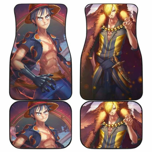 Luffy Sanji One Piece Car Floor Mats Universal Fit 051912 - CarInspirations
