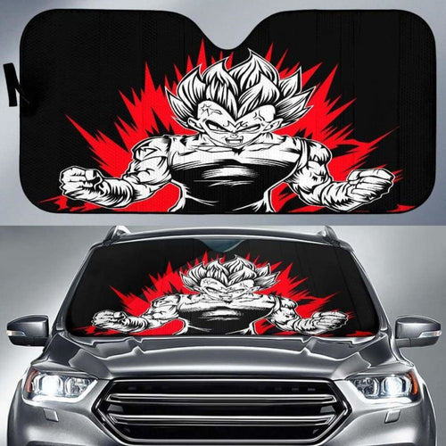 Majin Vegeta Car Sun Shades 918b Universal Fit - CarInspirations
