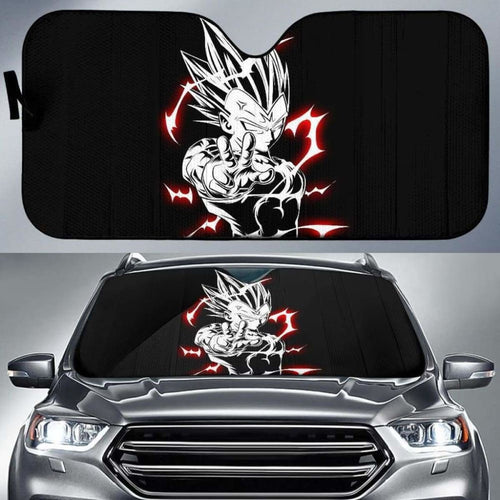 Majin Vegeta New Car Sun Shades 918b Universal Fit - CarInspirations