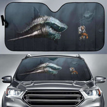 Load image into Gallery viewer, Megalodon Shark Auto Sun Shades 918b Universal Fit - CarInspirations