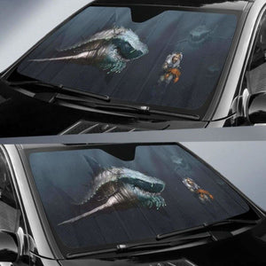 Megalodon Shark Auto Sun Shades 918b Universal Fit - CarInspirations