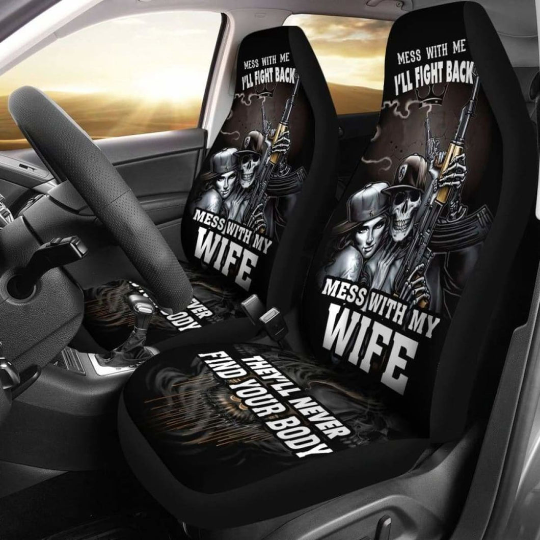 Mess With Car Seat Covers (Set of 2) Universal Fit - CarInspirations