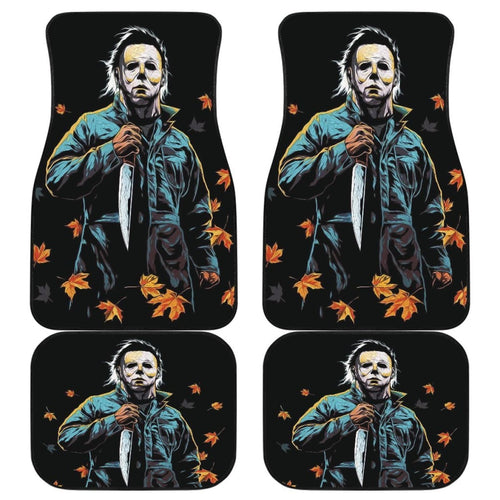 Michael Myers Art Halloween Car Floor Mats Movie Fan Gift Universal Fit 103530 - CarInspirations