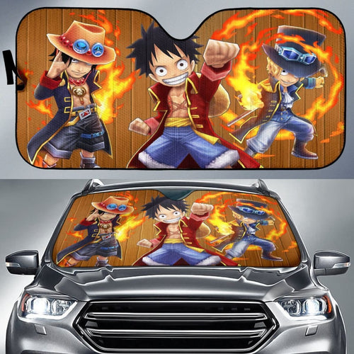 Monkey D. Luffy One Piece Anime Car Sun Shades H033120 Universal Fit 225311 - CarInspirations