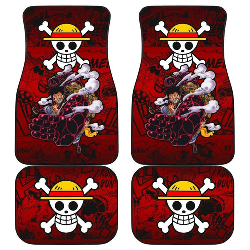 Monkey D. Luffy One Piece Car Floor Mats Manga Mixed Anime Cute Universal Fit 175802 - CarInspirations