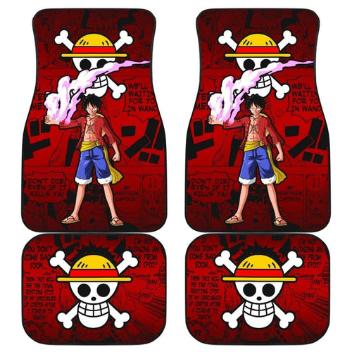 Monkey D. Luffy One Piece Car Floor Mats Manga Mixed Anime Universal Fit 175802 - CarInspirations
