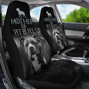 Mother Of Pit Bulls Car Seat Covers 231303 Universal Fit - CarInspirations