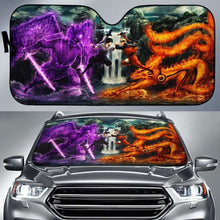 Load image into Gallery viewer, Naruto Vs Sasuke Auto Sun Shades 918b Universal Fit - CarInspirations