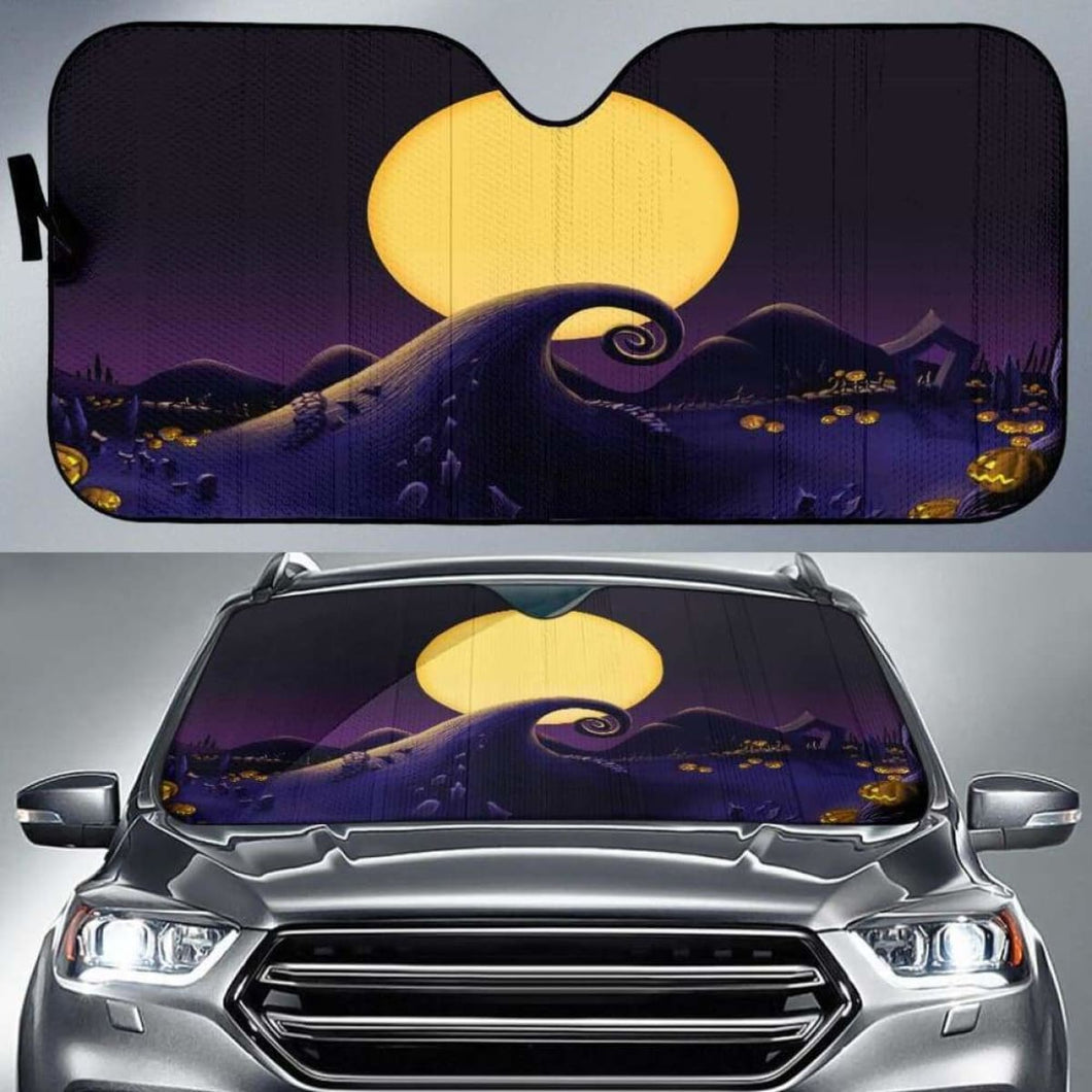 Nightmare Before Christmas Car Sun Shades 918b Universal Fit - CarInspirations