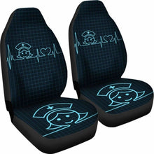 Load image into Gallery viewer, Nurse Heart Beat Car Seat Cover (Set Of 2) Universal Fit 051012 - CarInspirations