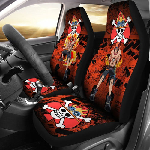 One Piece Manga Mixed Anime Ace Car Seat Covers Universal Fit 194801 - CarInspirations