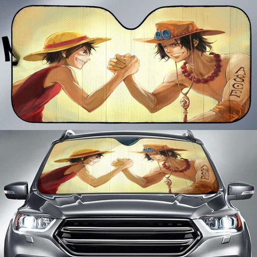 One Piece Monkey D Ruffy VS Puma D Ace Car Sun Shades 918b Universal Fit - CarInspirations