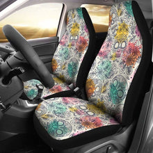 Load image into Gallery viewer, Pastel Sugar Skull Art Patterns Car Seat Covers Universal Fit 051012 - CarInspirations