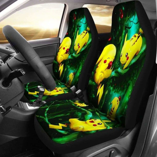 Pikachu Car Seat Covers 2 Universal Fit 051012 - CarInspirations
