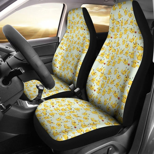 Pikachu Different Expressions Pokemon Car Seat Covers Lt03 Universal Fit 225721 - CarInspirations