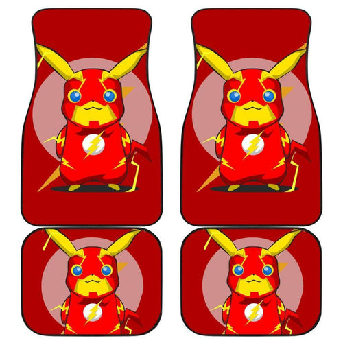 Pikachu Flash Car Floor Mats Pokemon Anime Fan Gift H200221 Universal Fit 225311 - CarInspirations