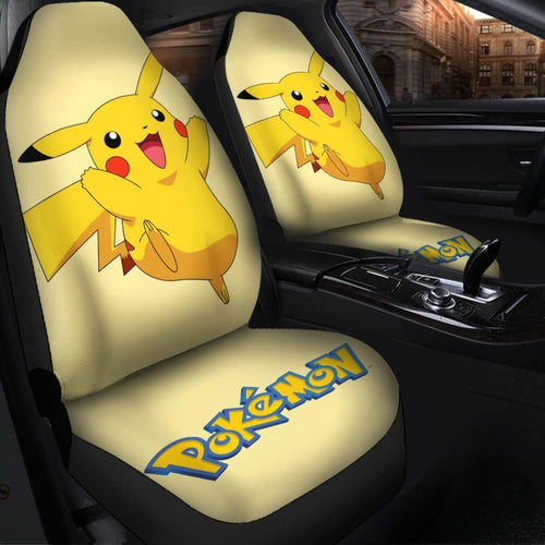 Pikachu Seat Covers Amazing Best Gift Ideas 2020 Universal Fit 090505 - CarInspirations