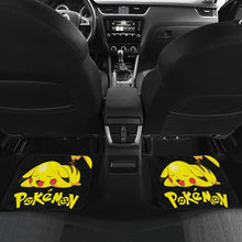 Load image into Gallery viewer, Pikachu Sleepy Car Floor Mats Pokemon Anime Fan Gift H200221 Universal Fit 225311 - CarInspirations