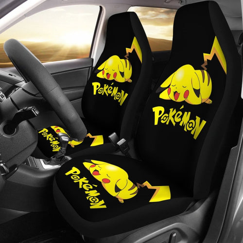 Pikachu Sleepy Car Seat Covers Pokemon Anime Fan Gift H200221 Universal Fit 225311 - CarInspirations