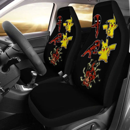 Pikachu X Deadpool Car Seat Covers Universal Fit 051012 - CarInspirations