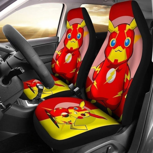 Pikaflash Car Seat Covers Funny Pika And Flash Universal Fit 194801 - CarInspirations