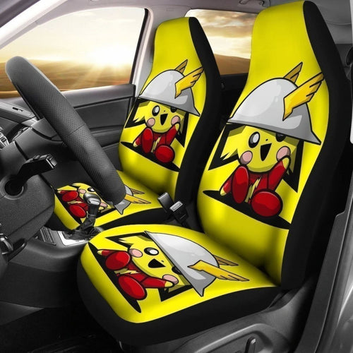 Pikathor Car Seat Covers Funny Pika And Thor Universal Fit 194801 - CarInspirations