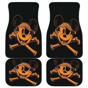 Pirates Of The Caribbean Mice Logo Car Floor Mats Universal Fit 051012 - CarInspirations
