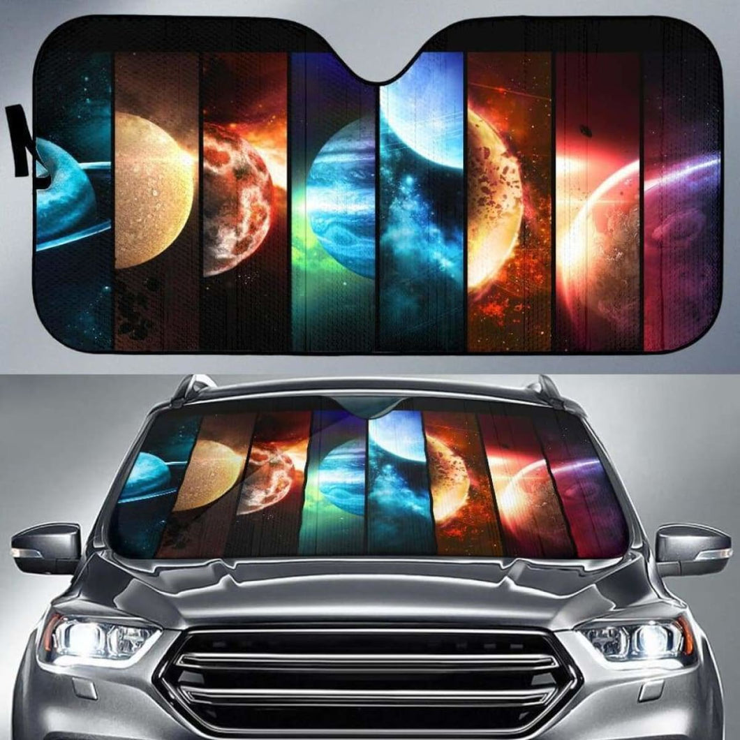 Planets Car Sun Shades 918b Universal Fit - CarInspirations