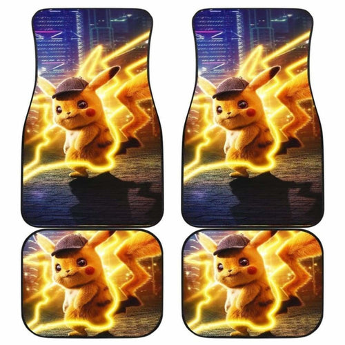 Pokemon Detective Pikachu Movies Car Floor Mats Universal Fit 051012 - CarInspirations