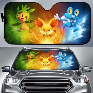 Pokemon Gen 6 Car Sun Shades 918b Universal Fit - CarInspirations
