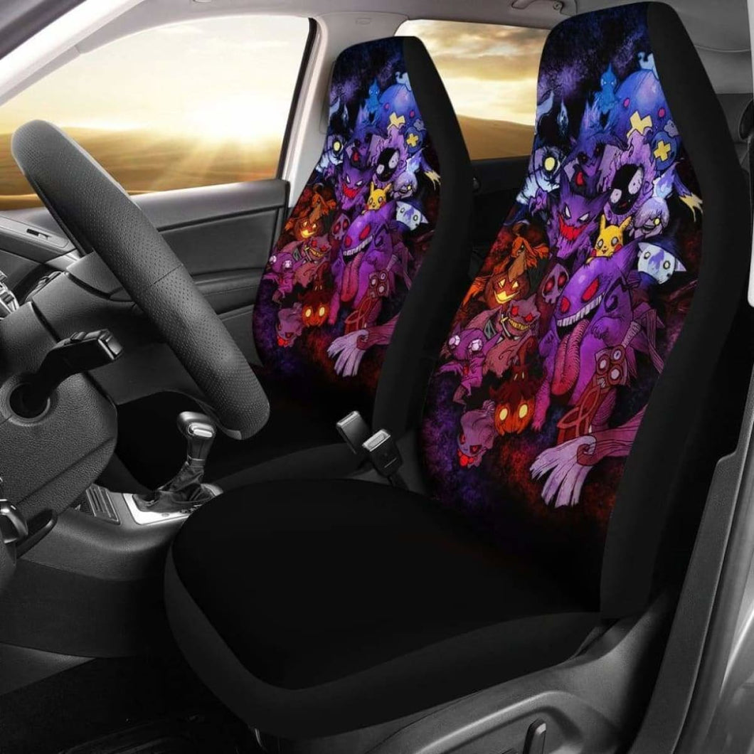 Pokemon Ghost Car Seat Covers 2 Universal Fit 051012 - CarInspirations