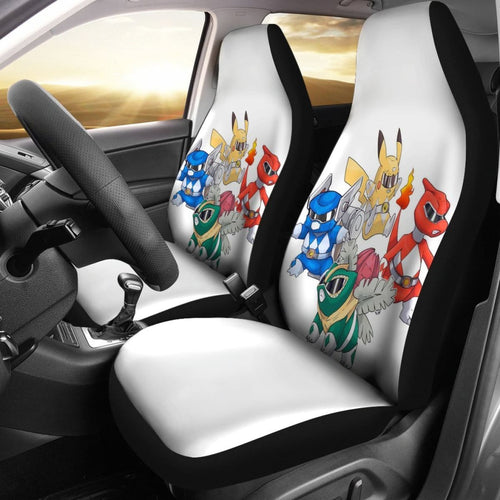 Pokemon Pikachu Power Ranger Car Seat Covers Amazing Best Gift Ideas 2020 Universal Fit 090505 - CarInspirations