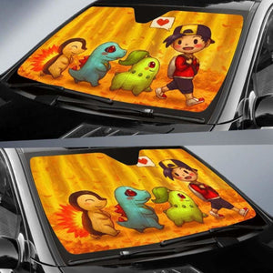 Pokemon Walking Car Sun Shades 918b Universal Fit - CarInspirations