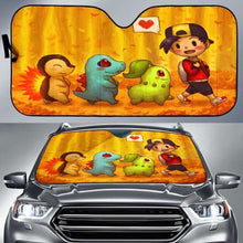Load image into Gallery viewer, Pokemon Walking Car Sun Shades 918b Universal Fit - CarInspirations