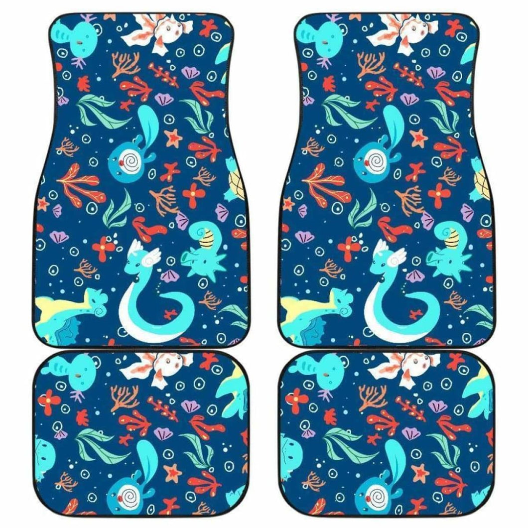 Pokemon Water Symbols Cute Car Floor Mats Universal Fit 051012 - CarInspirations