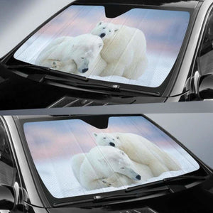 Polar Bear Car Sun Shades 918b Universal Fit - CarInspirations