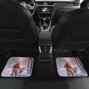 Pooh & Winnie Playing In Winter Car Floor Mats Universal Fit 051012 - CarInspirations