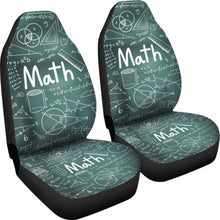 Load image into Gallery viewer, Proud Math Teacher Car Seat Covers 100421 Universal Fit - CarInspirations